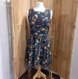 LA Soul dinosaur print dress with pockets